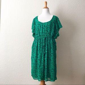 Pure energy size 3 gorgeous mini green dress